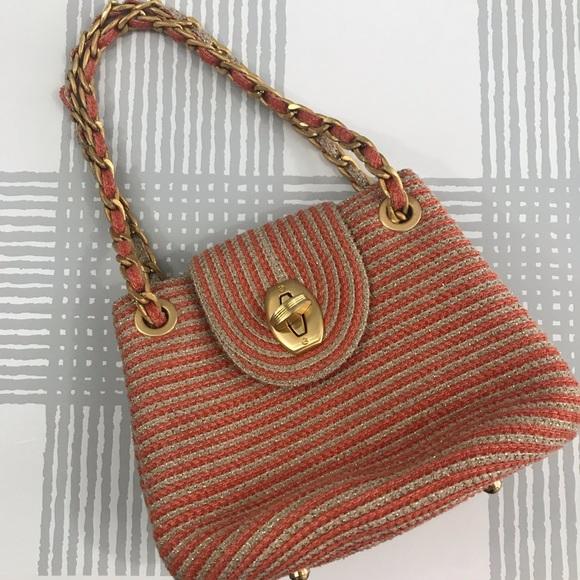 017739d3ef43 Eric Javits Bags | Woven Striped Chain Shoulder Bag | Poshmark